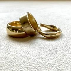 Organic Gold Ring - handmade