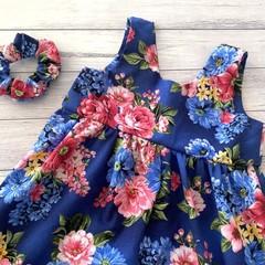 Floral Tea Party Dress, Size 5 Girls Dresses