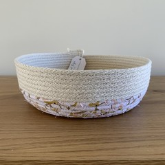 Rope Basket - Catch All - with Jocelyn Proust Gum Nut Fabric