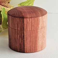 Handmade  turned wooden  ring box, Proposal ring box. Wedding ring box,