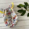 Seaside gum nut babies Romper, Size 000 or 00, Baby Romper, Baby Girls Playsuit