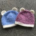 Baby teddy bear beanies