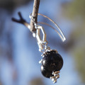 Black Plum Drop Earrings