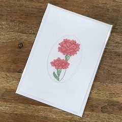 Pink Carnations Card