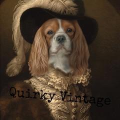 Customised Royal Pet Portrait in Renaissance Costume - Cavalier.