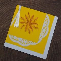 Quilled Bookmark Sunshine
