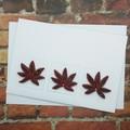Trifold Card Autumn Leaves