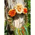 Flower Grapevine Wreath Rustic Hanging Decoration Autumn 19-20 cm