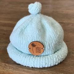 Newborn Gumdrop Beanie - Pale Blue