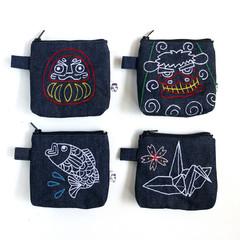 Handmade Zipper Purse • Japanese Theme 10x10x3