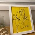 """""""Twirling Trio"""" Line Drawing of Dancers - Framed Artwork"""