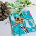 Coaster Set/ Christmas Theme/ Kookaburra/ Xmas Fabric/ Australian Gift