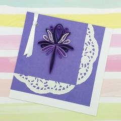 Quilled Bookmark Purple Pattern