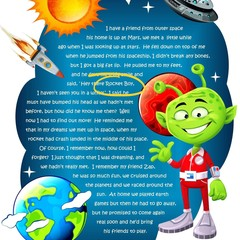 STAR YOUR CHILD In A Space Poem | Boy & Girl Wall Art | Personalised Digital Dow