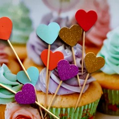 Cake toppers, Engagement,  Baby Shower, Cupcakes, Fruit Picks