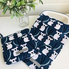 Tea Towel and Pot Holder Gift Set/ Koala / Australian/ Native Animals/ Kitchen