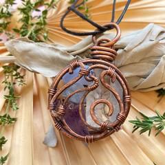 Crystal Moon 4 Stone Pendant