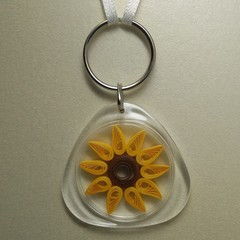 Quilled Keyring Sunflower