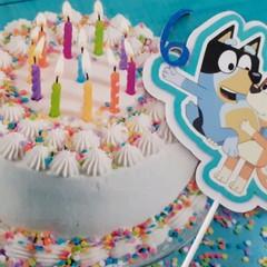 Bluey & Bingo, Age personalised Cake topper