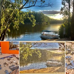 SUNSET ON THE MURRAY TOCUMWAL  126 piece jigsaw