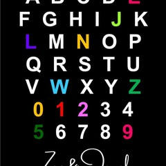 ALPHABET NAME POSTER | Boy & Girl Name Wall Art | Personalised Digital Product