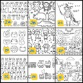 ART BY ME Colour In Pack for Kids | Digital