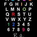 ALPHABET NAME POSTER   Boy & Girl Name Wall Art   Personalised Digital Product