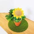 Crocheted Sunflower in Terracotta Pot