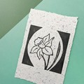 Daffodil Print on Handmade Botanical Paper