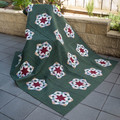 Queen size quilt.  Handmade, home quilted. Appliqued