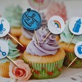 Cake toppers,  Baby Shower, Cupcakes, Gender Reveal, Fruit Picks