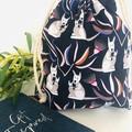 Drawstring Bag/ Small/ Australian Animal/ Kangaroo/ Toy Bag/ Book Bag