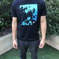 Unisex 'Bubbles' Blue Short Sleeve