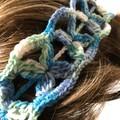 Flower Headband - hand crocheted