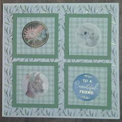 To a Beautiful Friend - Handmade Card