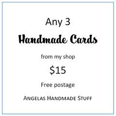 Any 3 Handmade Cards - Free postage