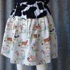 """Farm Animals""-Littles Girls Country Skirt"