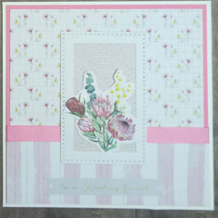 to a Darling friend - Handmade Card