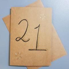 21st Birthday Card