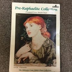 DMC Pre-Raphaelite Collection counted cross stitch chart