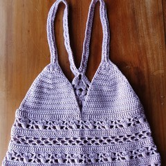 Crochet racer back top