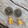 Golden Cleo Earrings