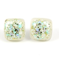 Gold, blue & white studs - square (samples, seconds & old stock)