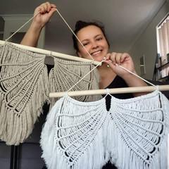 Macrame Angel Wings | Handmade | Home decor | Wall Hanging