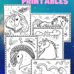 Colouring In Printables!- Pony Pages - DIGITAL ART-Download