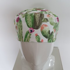 Hat adult-cactus with mint green