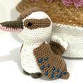 kookaburra, READY TO POST, Australian animal, baby girl toy, personalised toy