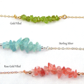 Peridot Bar Necklace,Bar Necklace,August Birthstone,Layering Necklace
