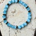 Blue Cat's Eye Stretch Bracelet