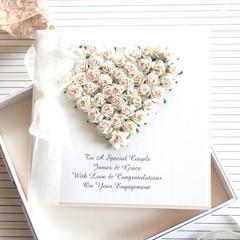 Personalised Engagement Card, Engagement Keepsake, Handmade Custom Made Card